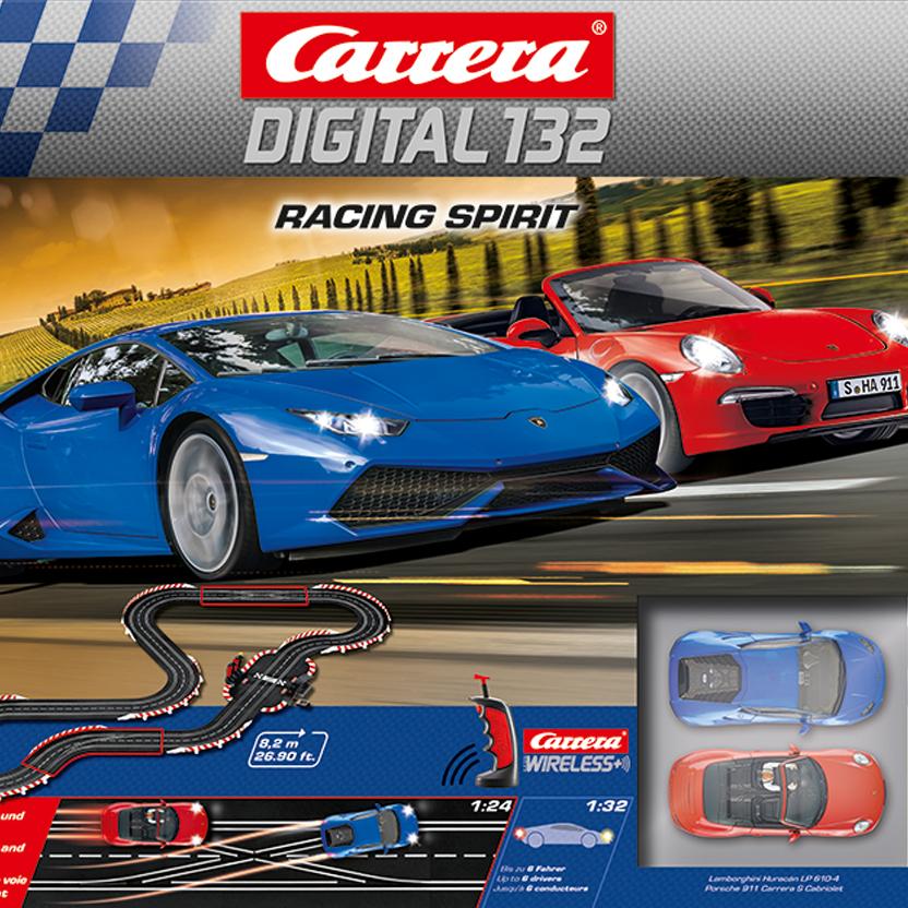 Carrera Digital 132 Racing Spirit für 243€ – digitale Carrerabahn mit Sportwagen