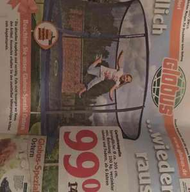 Globus SB Warenhaus Sportspower Trampolin 305 cm
