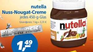 Nutella 450g (eventuell plus 20%) in Real bundesweit