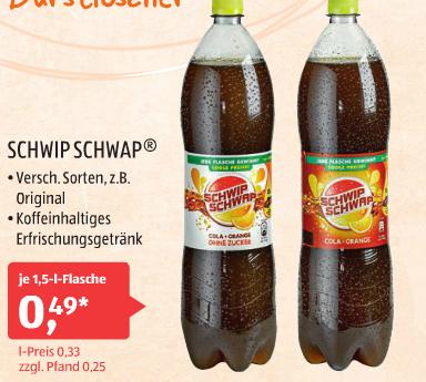 [Aldi Süd ab 08.04.] Schwip Schwap 1,5L für 0,49€