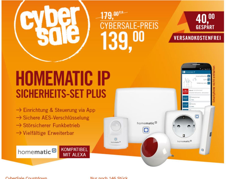 Homematic IP Einsteigerpaket Sicherheit plus für 139 € bei Cyberport