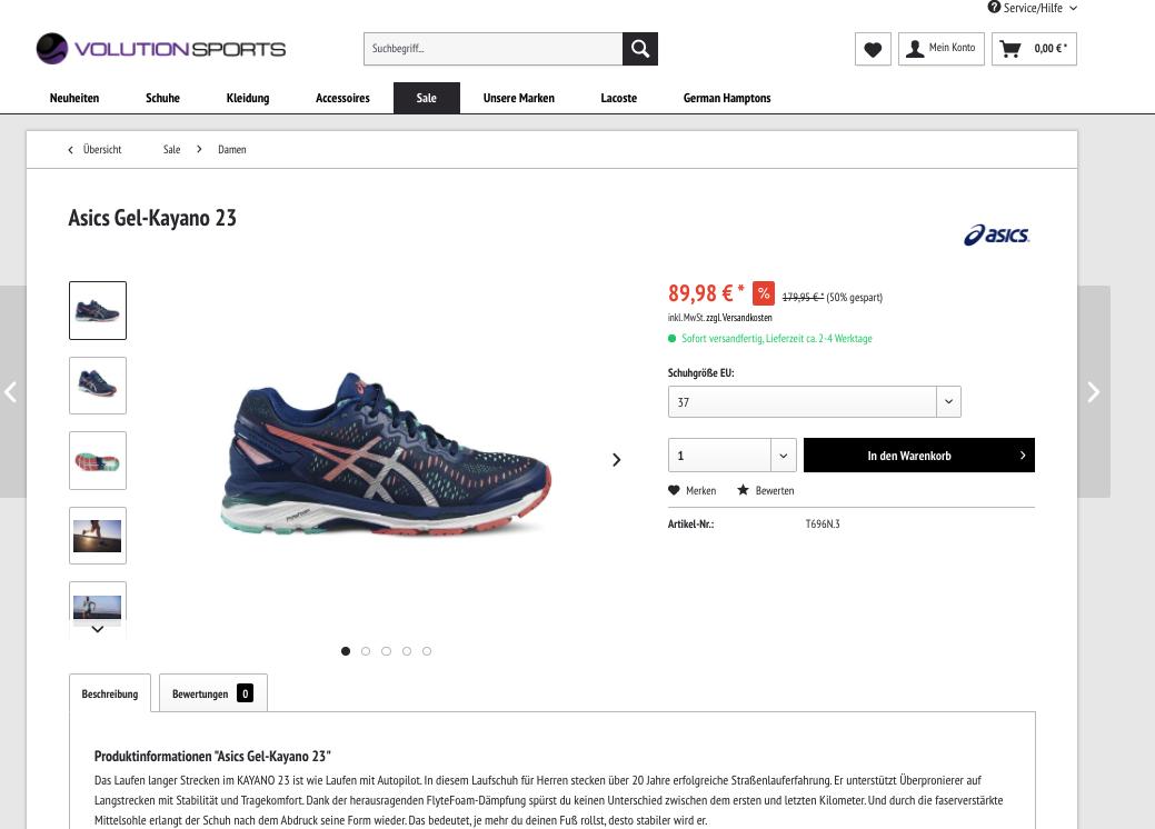 Adidas, Asics, Birkenstock und Co. -50%