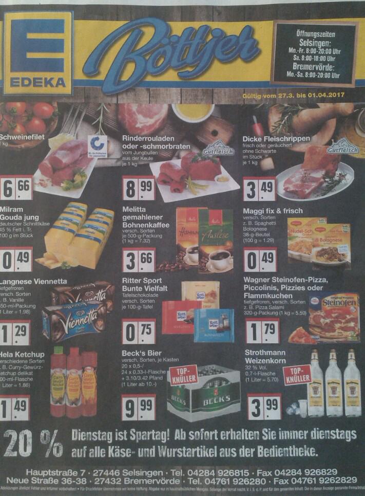 [Edeka - Böttjer] Hela Ketchup 1,49 EUR / Strothmann Korn 3,99 EUR