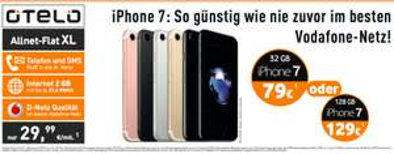 Iphone 7 128 GB mit otelo 2 GB