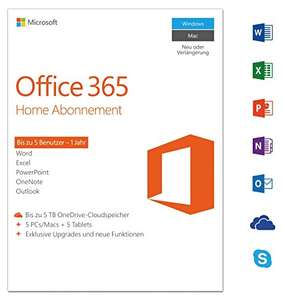 Microsoft Office 365 Home - 5PCs/MACs - 1 Jahresabonnement