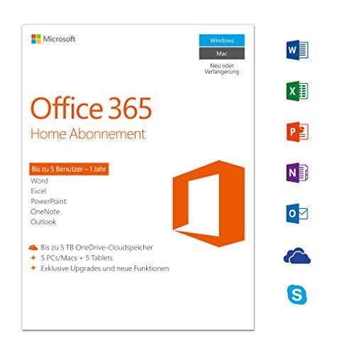 Office 365 Home (5 User PC/Mac) für 49,99€ (-50%) als AMAZON DOWNLOAD