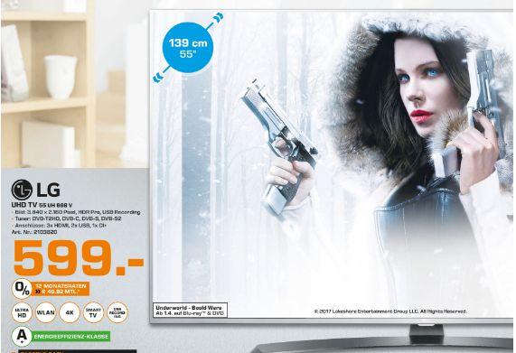 [Lokal Saturn Herford ab 29.03] LG 55UH668V, 139 cm (55 Zoll), UHD 4K, LED TV, DVB-T, DVB-T2, DVB-C, DVB-S, DVB-S2,A+, Smart TV für 599,-€