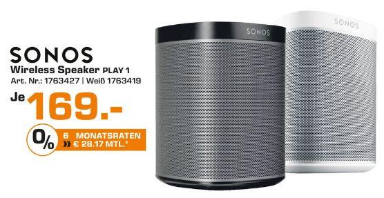 [Lokal Saturn Herford ab 29.03] Sonos - PLAY:1 Multiroom Lautsprecher, schwarz oder weiß für je 169,-€