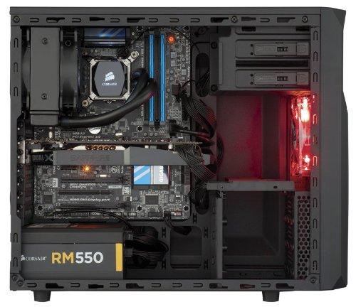 Amazon Angebot: Corsair CC-9011051-WW Carbide Series Gaming PC-Gehäuse Spec-02, Seitenfenster, Mid-Tower ATX schwarz mit rotem LED Lüfter