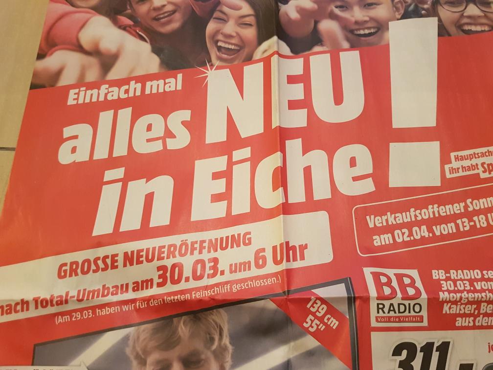 [Media Markt Eiche bei Berlin] Neueröffnungsangebote ab 30.03.2017