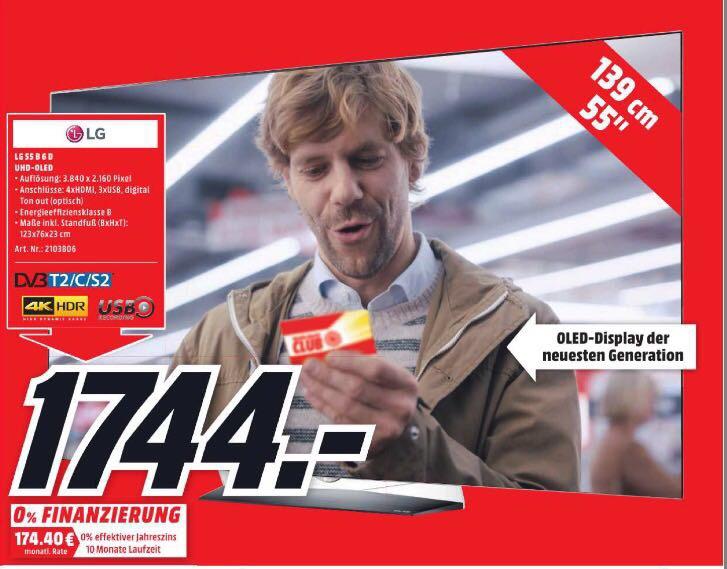 Neueröffnung Media Markt Eiche LG Oled 55B6D