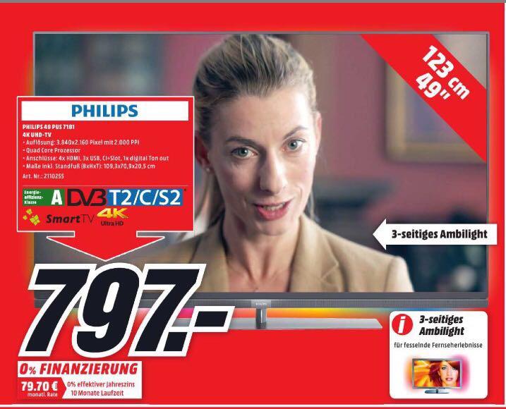 Neueröffnung Media Markt Eiche Philips 49 PUS 7181