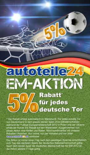Autoteile EM-Aktion: Nur noch heute 20% Prozent Rabatt
