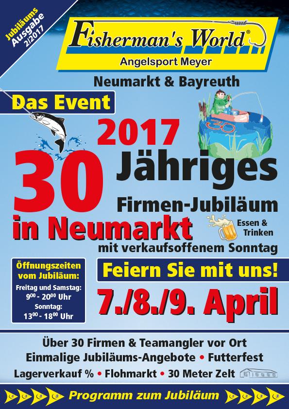 [Lokal Neumarkt i.d.Opf.] 07. - 09. April 30 Jahre Fishermans World - Extrem Viele Angel-Angebote
