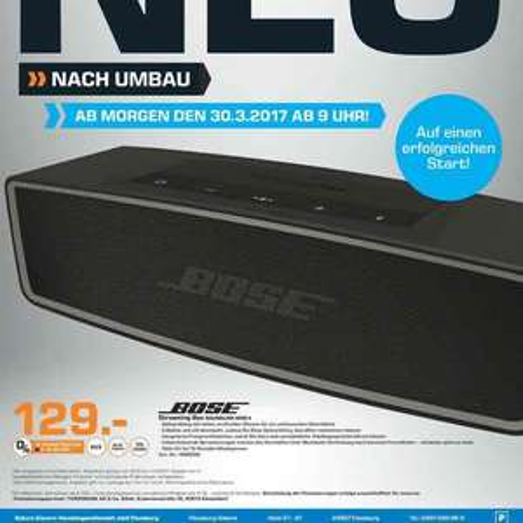 Saturn Flensburg Neueröffnung - Bose Soundlink Mini II für 129€ - Samsung J7 für 179€  - Bose QC35 für 265€
