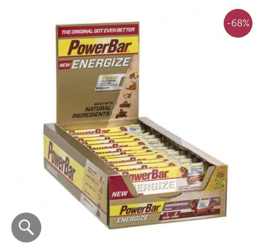 Energize Bar 24x55g Gingerbread MHD 31.3.17 inkl Versandkosten