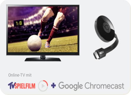 TV Spielfilm Live und Google Chromecast für NUR 29,99