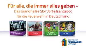 (Neukunden) Sky Entertainment inkl. 3 Premiumpakete, Sky Go, Sky on Demand und Sky+ Pro Receiver - 24 M Laufzeit - nur 19,99€ / Monat zzgl. Aktivierungsgebühr/Logistikpauschaule - nur für Feuerwehrmitglieder