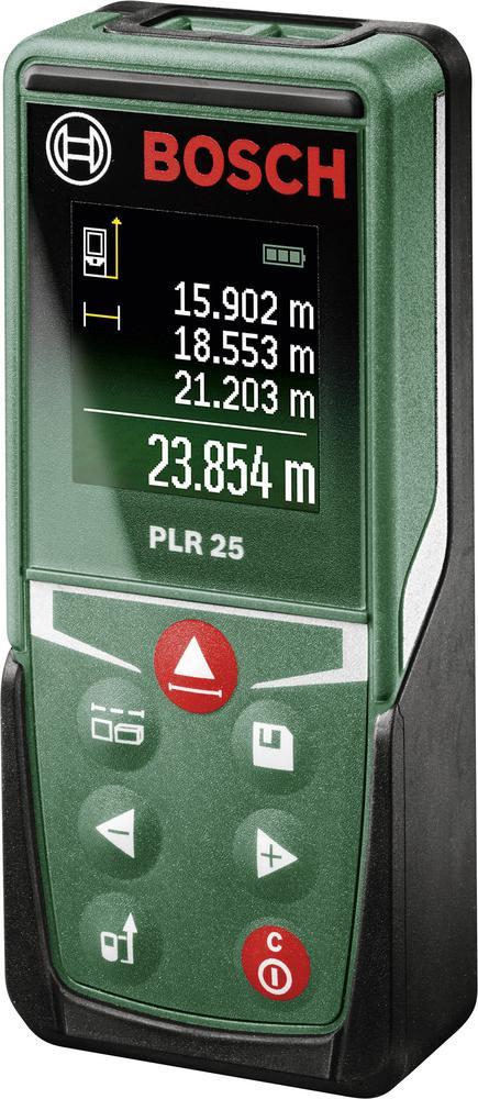 Bosch PLR 25 Laser-Entfernungsmesser für 54,44€ [Conrad]