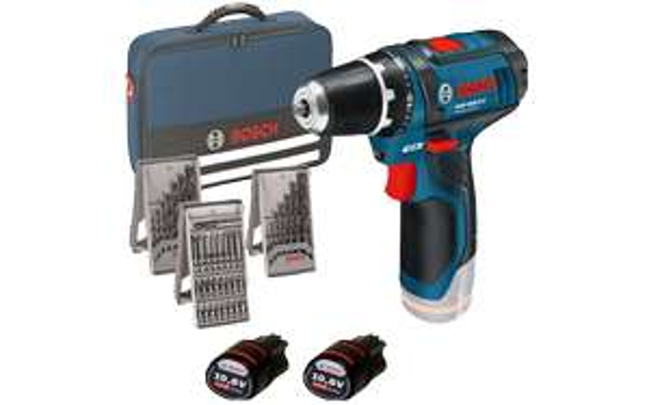 ZackZack Angebot: Bosch Akkuschrauber GSR 10,8-2-LI Set (Tasche, 2 Akkus, Bit-Set, 2 Bohrer-Sets)