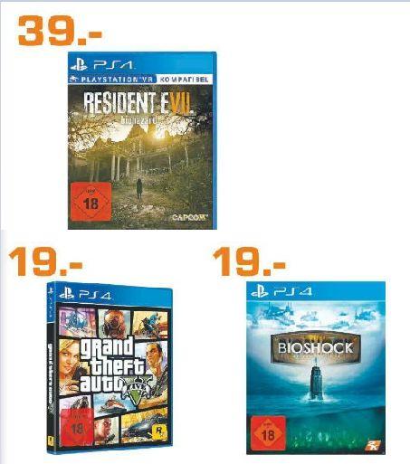 [Lokal Saturn Dresden] Resident Evil 7: Biohazard  (Playstation 4) für 39,-€ oder GTA 5  und Bioshock Complete (Playstation 4) für je 19,-€