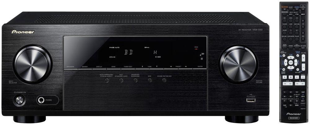 [ebay] Pioneer VSX-330-K 5.1 AV Receiver (105 Watt pro Kanal, 4K Ultra HD Passthrough, HDMI mit HDCP2.2, Front-USB, Eco-Mode) für 188€ statt 229€