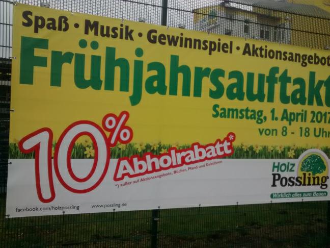 Holz Possling 10% Selbstabholer Rabatt