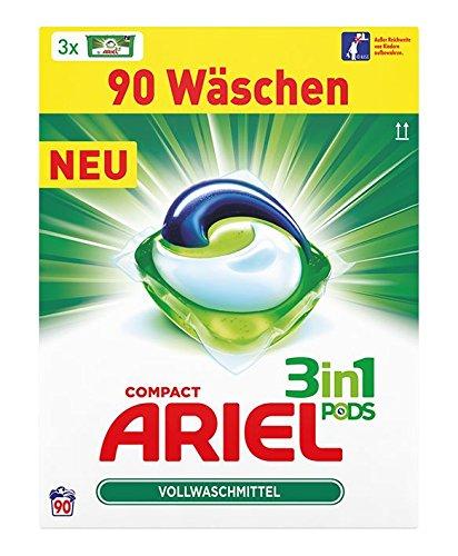 Ariel 3 in 1 Pods Vollwaschmittel 90 Stück für 14,99€ mit [Amazon Prime]