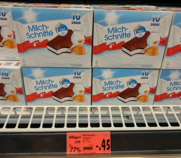 [lokal] Kaufland Schwetzingen: 10er Milchschnitte €-,45