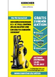 Kärcher Aktion - Zubehör gratis bis 31.05 bei Kauf von Hochdruckreiniger K3 bis K7 Full Control