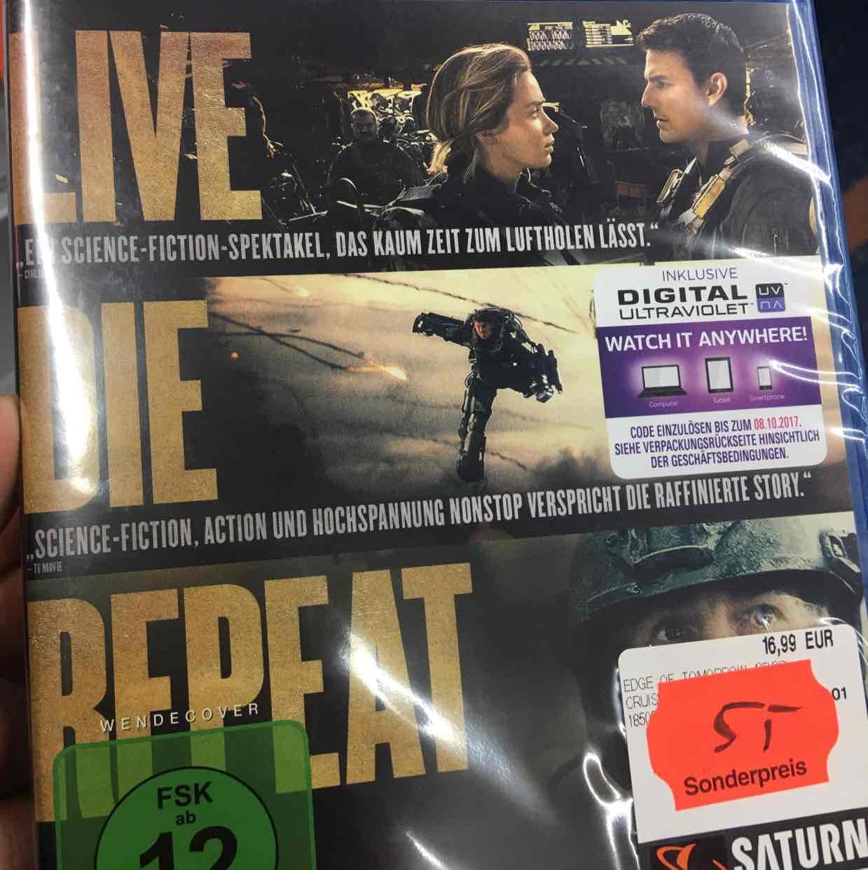 "(Lokal Saturn Stuttgart) Blu-Ray + 3D""Edge of Tomorrow"" für 5,- Euro"