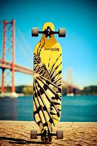 "Streetsurfing Longboard Freeride 39 ""Yellow Dragon"" für 64,99 € (83,98€)"