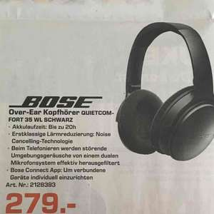 Bose Quietcomfort 35 für 279€   Saturn Bielefeld