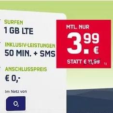 o2-Netz (50|50|1GB LTE) für 3,99 € auf der Rechnung + Samsung Level mini Box BT Lautsprecher
