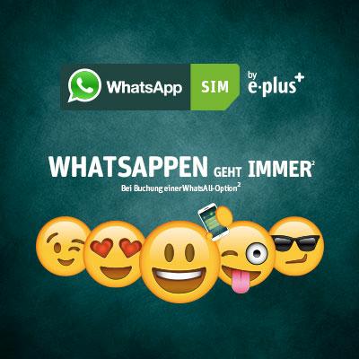 WhatsApp Sim 5€ Guthaben gratis