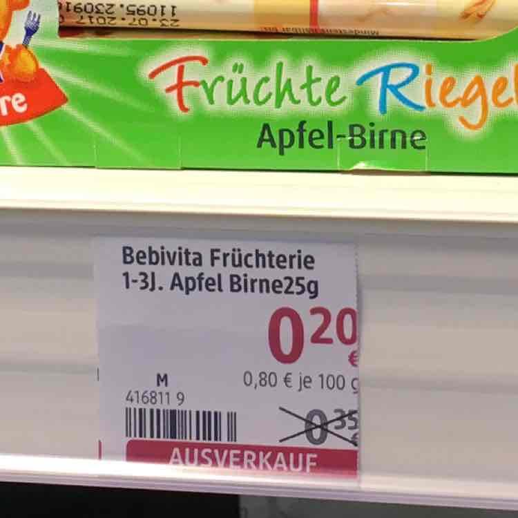 Bebivita Früchteriegel bei dm im Ausverkauf