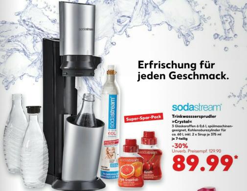 "Kaufland Sodastream Crystal *Super Spar Paket *""+ Sirup Angebot 2,79€"""