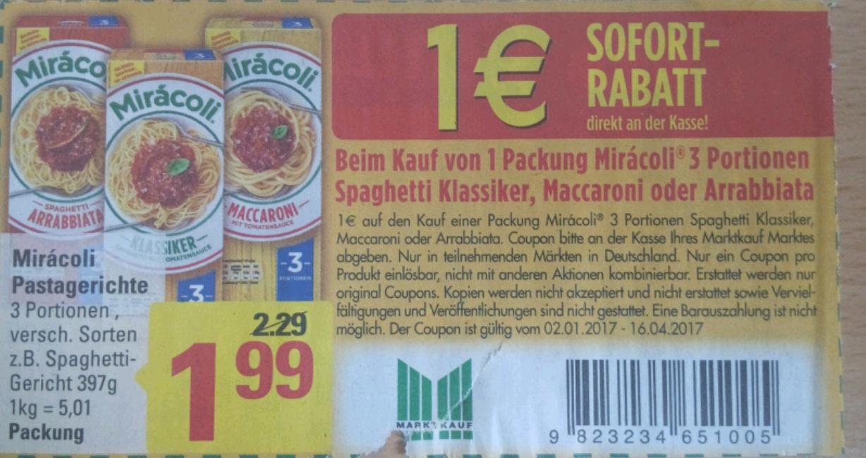 [MARKTKAUF] Minden/Hannover 1€ Sofort-Rabatt auf Miracoli