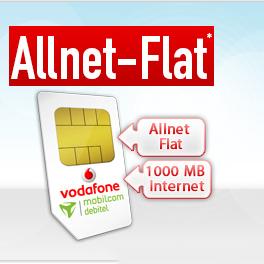 Günstigste Allnet Flat bis 18 Uhr: mobilcom-debitel Vodafone Comfort Allnet mit 1 GB UMTS für eff. 5,99 € / Monat