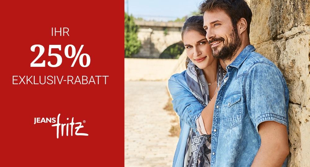 25 % Rabatt auf Damenbluse und Herrenhemd von Jeans Fritz