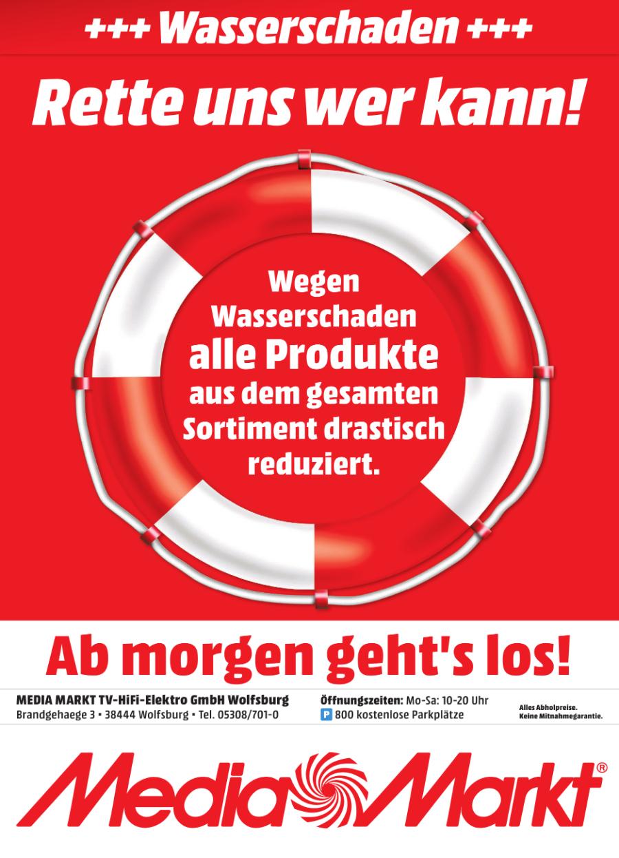 [Media Markt Wolfsburg lokal] Wasserschaden Rabatte ab 01. April