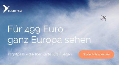 studiticket: Für 499€ ganz Europa sehen