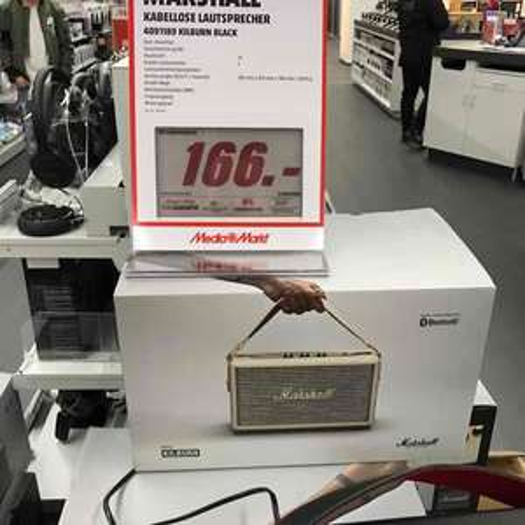 [LOKAL] MARSHALL Kilburn, Bluetooth Lautsprecher für 166 EUR im Mediamarkt Dortmund Hörde