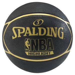 [eBay] Spalding Basketball NBA Highlight Outdoor Streetbasketball schwarz/gold Gr. 7