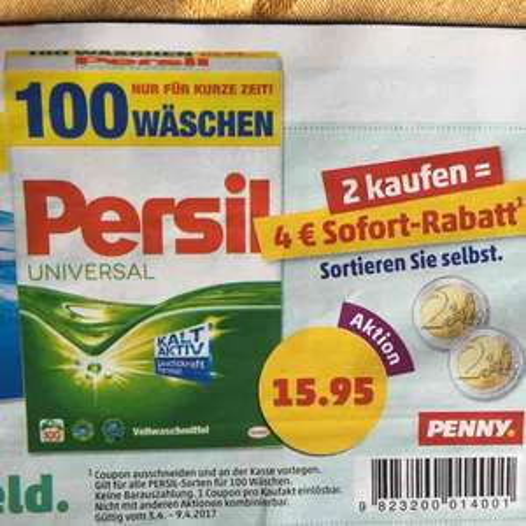 [PENNY] Persil 100 WL für effektiv 0,13 pro WL