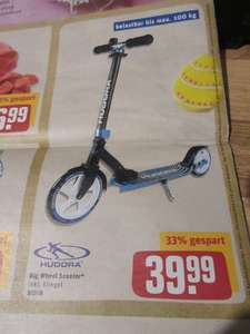 REWE - Hudora Big Wheel Scooter  eventuell nur Regional