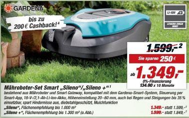 [Div. Baumärkte] Gardena Smart Sileno für 939€, Smart Sileno+ für 1079€, smart SILENO System Set für 1119€
