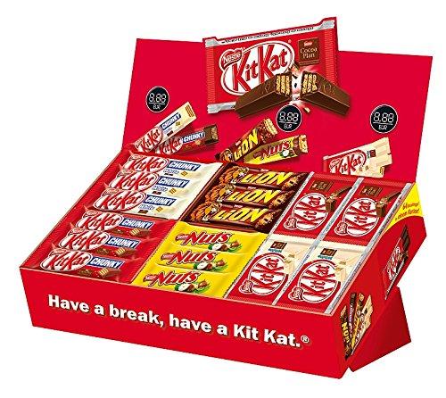 [Amazon Prime] Schokolade bis zu 40% reduziert z.B.: Nestlé Sortimentskarton, 64 Riegel (2.638 kg) für 19,99€