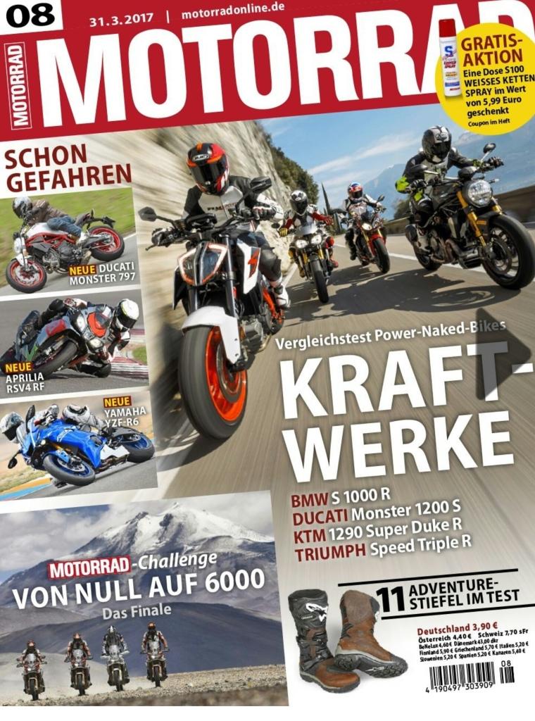 S100 weisses Kettenspray (75ml) von Louis in der aktuellen Motorrad Zeitschrift