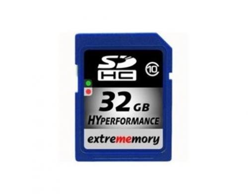 32 GB Extrememory SDHC HYPerformance Class 10 Karte für 15,99 € @Meinpaket